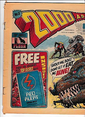 2000Ad Prog #3  12  March 1977  In Good Condition