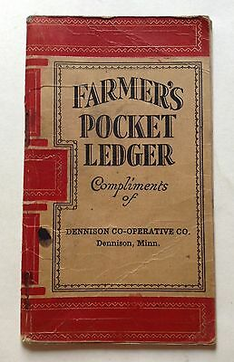 John Deere 1920's Farmer's Pocket Ledger Tractor Advertising Dennison Minn MN