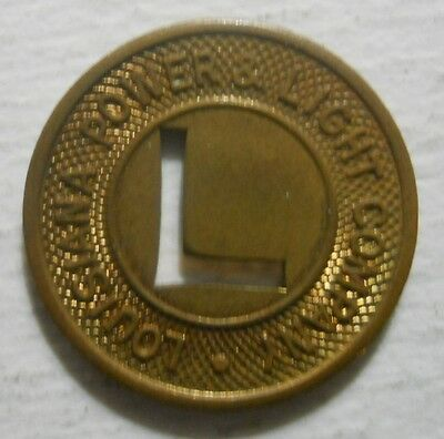 Louisiana Power & Light Company (Algiers) transit token - LA30D