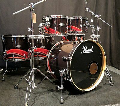 Pearl Vision Birch VBA 6pc Shell Pack, Black Flava – Pre-owned