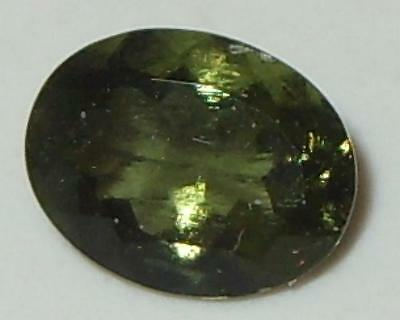 1.39ct Faceted TOP QUALITY Natural Czechoslovakia Moldavite Oval Cut 9x7mm