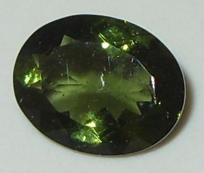 1.74ct Faceted TOP QUALITY Natural Czechoslovakia Moldavite Oval Cut 10x8mm