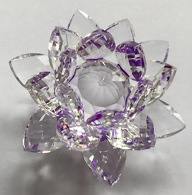 "3.5"" Faceted Purple Glass Lotus!"