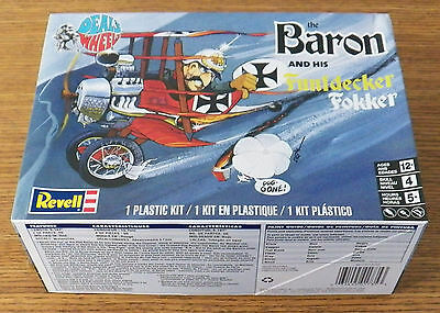 Revell Monogram The Baron and his Funfdecker Fokker Model Kit about 1/48