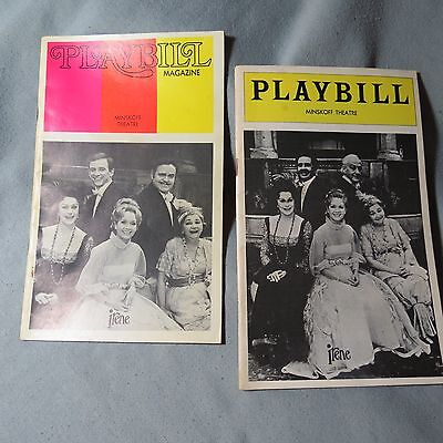 IRENE Playbills - Premiere, Debbie Reynolds and Carrie Fisher, and Closing