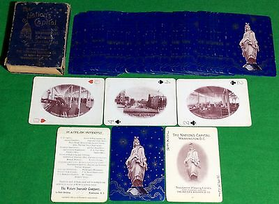 Antique c1900 PLAYING CARDS Waters WASHINGTON The NATION'S CAPITAL Souvenir S64