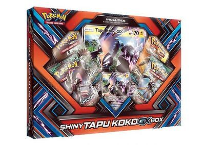 Pokemon Shiny Tapu Koko GX Box New/Sealed PRE-ORDER