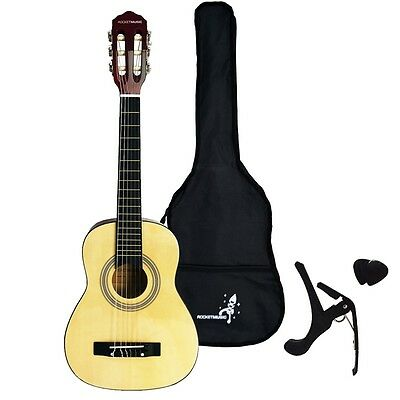 Rocket XF Series Classical Spanish Guitar Pack - 4/4, 3/4 or 1/2 Size