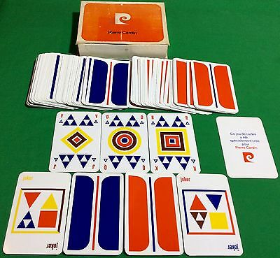 TWIN SET Vintage 1973 Non Standard PIERRE CARDIN ** GEOMETRIC ** PLAYING CARDS