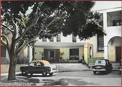 Libyan Army Officer's Club In Derna c1960. Coloured Real photo.