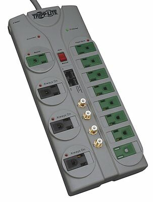 Tripp Lite 12 Outlet Eco-Surge Protector Power Strip, 10ft Cord, & $250K