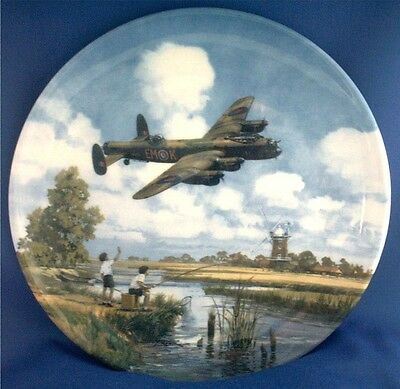 Royal Doulton Raf Plane Plate. Lancaster Low Overhead. Heroes Of The Sky