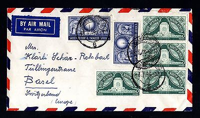 15596-SOUTH AFRICA-AIRMAIL COVER JOHANNESBURG to BASEL(switzerland) 1950.British