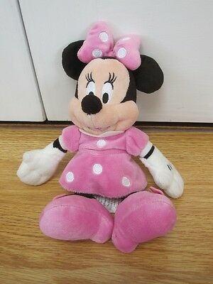 """Disney Store Minnie Mouse Plush Pink 9"""" Soft Toy"""