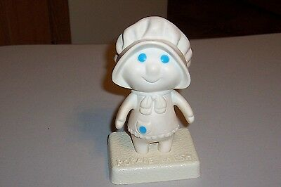 "Pillsbury Poppie Fresh Rubber Doll 5.5"" With Stand 6"""