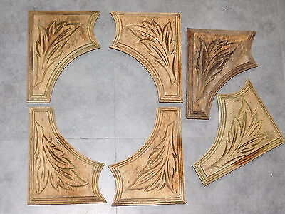 Lot De 6 Ornements En Bois Sculpte De Feuilles Deco Renovation Meubles F92