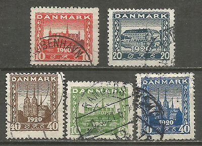 Denmark 1920 -21 years used stamps 2 sets
