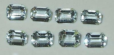 2.82ct Lot 8pcs Natural Brazil Aquamarine Small Emerald Cuts SPECIAL
