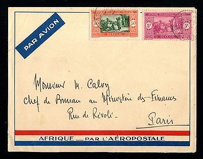15594-SENEGAL-AIRMAIL COVER DAKAR to PARIS (france) 1937.WWII.FRENCH colonies