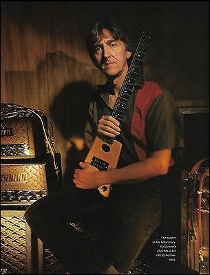 Allan Holdsworth clutches a Bill DeLap guitar 1993 color 8 x 11 pinup photo