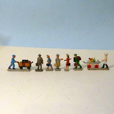 Vintage Lead TIMPO VERY RARE OO Guage Continental Railway Figures Semi Flat 1950