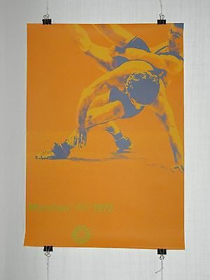 poster - wrestling - olympic games 1972 Munich München - original - Otl Aicher