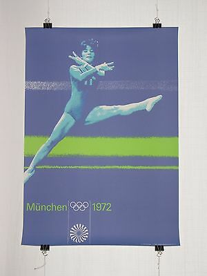 poster - gymnastics - olympic games 1972 Munich München - original - Otl Aicher