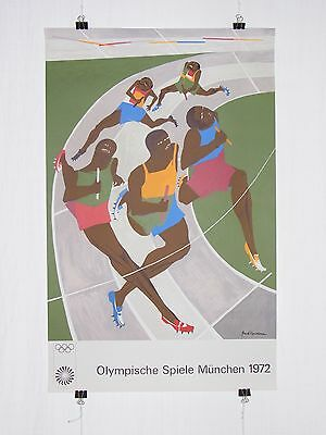 poster - Jacob Lawrence - olympic games 1972 Munich München - vintage original