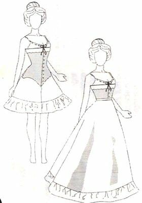 "Sewing  Patterns fits15 1/2 -16"" Tonner FASHION doll bjd Victorian corset skirt"