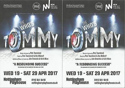 The Who's Tommy  - Nottingham Theatre FLYERS x 2