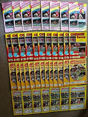 Bundle of AFC BOURNEMOUTH Football Programme's x39 1986-1990