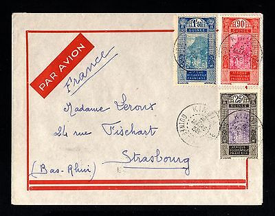 15209-FRENCH GUINEA-AIRMAIL COVER KINDIA to FRANCE.1938.WWII.FRENCH colonies.AOF