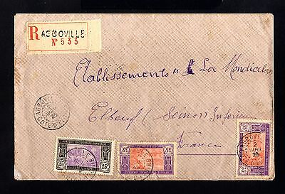 15735-COTE D´IVOIRE-REGISTERED COVER AGBOVILLE to FRANCE.1925.FRENCH colonie.AOF
