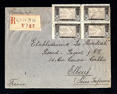 15300-COTE D´IVOIRE-REGISTERED COVER LAOU to FRANCE.1924.FRENCH colonie.AOF