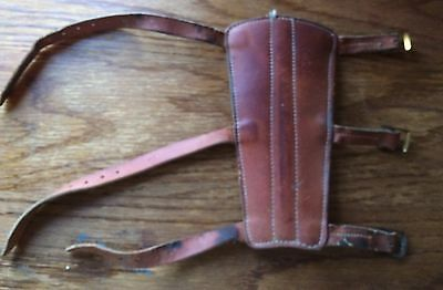Vintage Archery Carlisle Fore Arm Protector Brace Adult Small Leather 3 Straps B