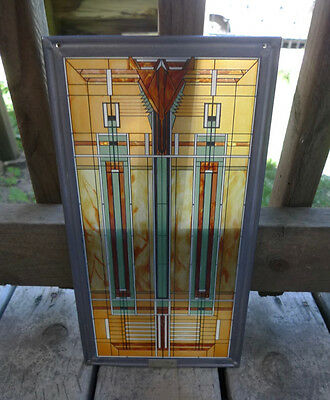 Frank Lloyd Wright Bradley House Prairie Style Stained Glass Panel Replica