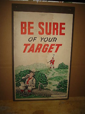 """National Rifle Association America 1946 Poster, Be Sure of your Target 22x14"""""""