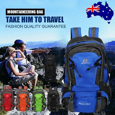 40L 80L Large Waterproof Hiking Camping Travel Backpack Outdoor Rucksack Bag XT