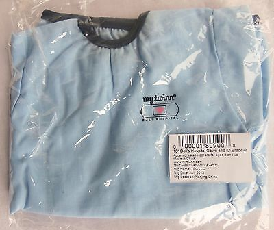 """My Twinn doll HOSPITAL GOWN for 18"""" size Doll, Mint in Bag"""