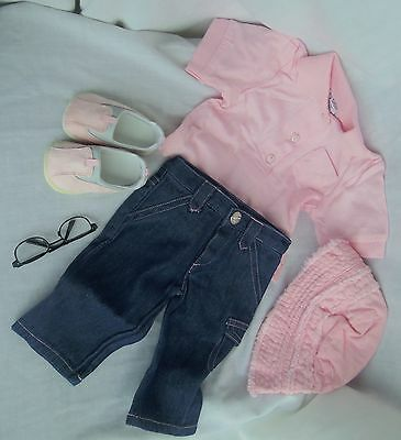 """My Twinn doll PINK TOP, JEANS, HAT, SHOES for 23"""" size, Mint in Bag, NO GLASSES"""