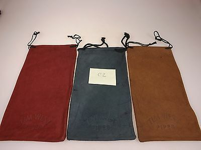 New 3 Tim West Pipes Designer Stamped Suede Leather Bags Pipes & Accessories C2