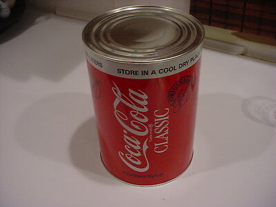 nice,vintage,SEALED COCA COLA CLASSIC FOUNTAIN SYRUP 1 Gallon CAN FREE SHIP