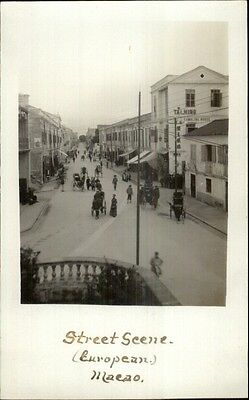 Macau Macao China Street Scene c1910 Real Photo Postcard rtw