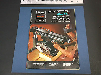 Collectible 1971 Sears Power & Hand Tools  Catalog  *g-Cond*