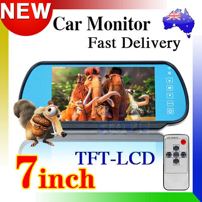 """7"""" TFT Color Screen LCD Car Rear View Headrest Mirror Monitor For Car Camera"""