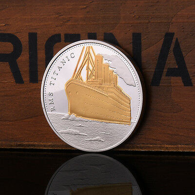Titanic Ship Route Commemorative Coins Two Colors Gold Silver Coin Nice New