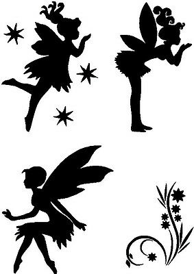 Stencils Crafts Templates Scrapbooking Fairies 09 Stencil - A4 Mylar