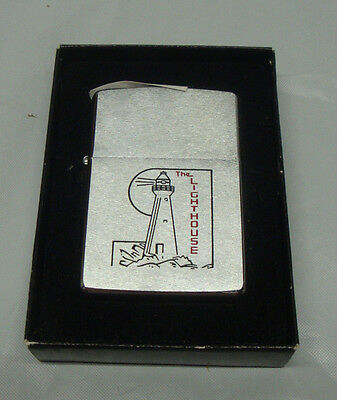 Vintage Zippo Lighter New Old Stock The Lighthouse New In Box