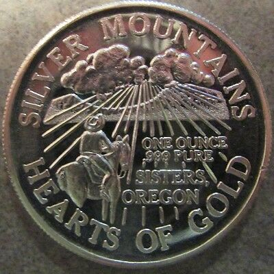 Vintage Western Rodeo Sisters, Oregon 1 Troy Oz. .999 Silver Round - OR