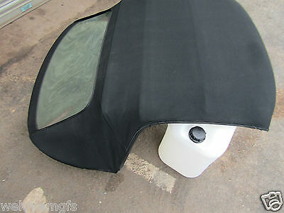 MGTF/MG TF/MGF BLACK  Hood / Soft Top / Good Rear Screen . On Frame